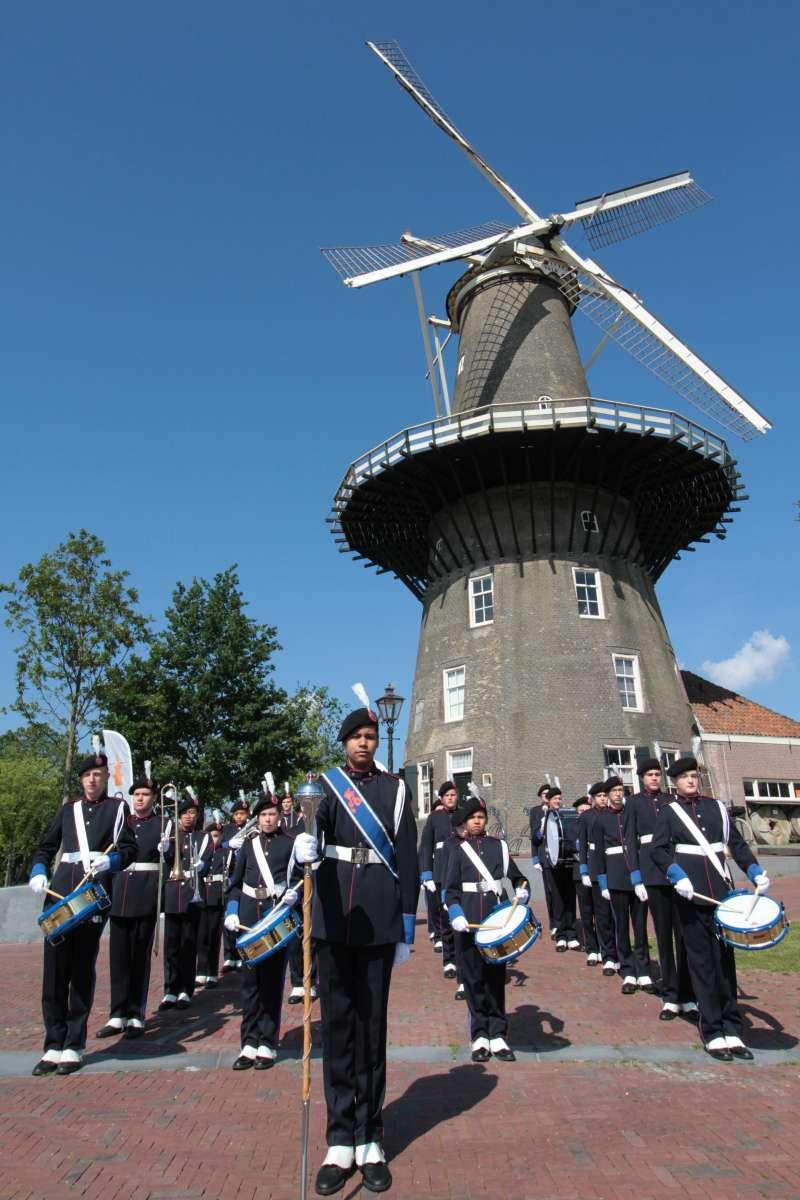 Jong K&G bij Molen de Valk in Leiden